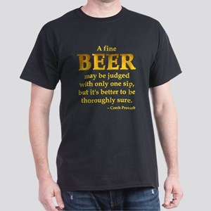 Czech Beer Proverb Dark T-Shirt
